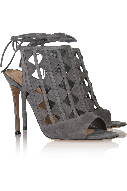 Gianvito Rossi Cutout suede sandals