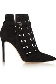 Gianvito Rossi Cutout suede ankle boots
