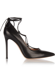 Gianvito Rossi Lace-up leather pumps