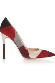 Gianvito Rossi Patchwork suede pumps