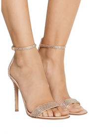 Gianvito Rossi Embellished satin sandals