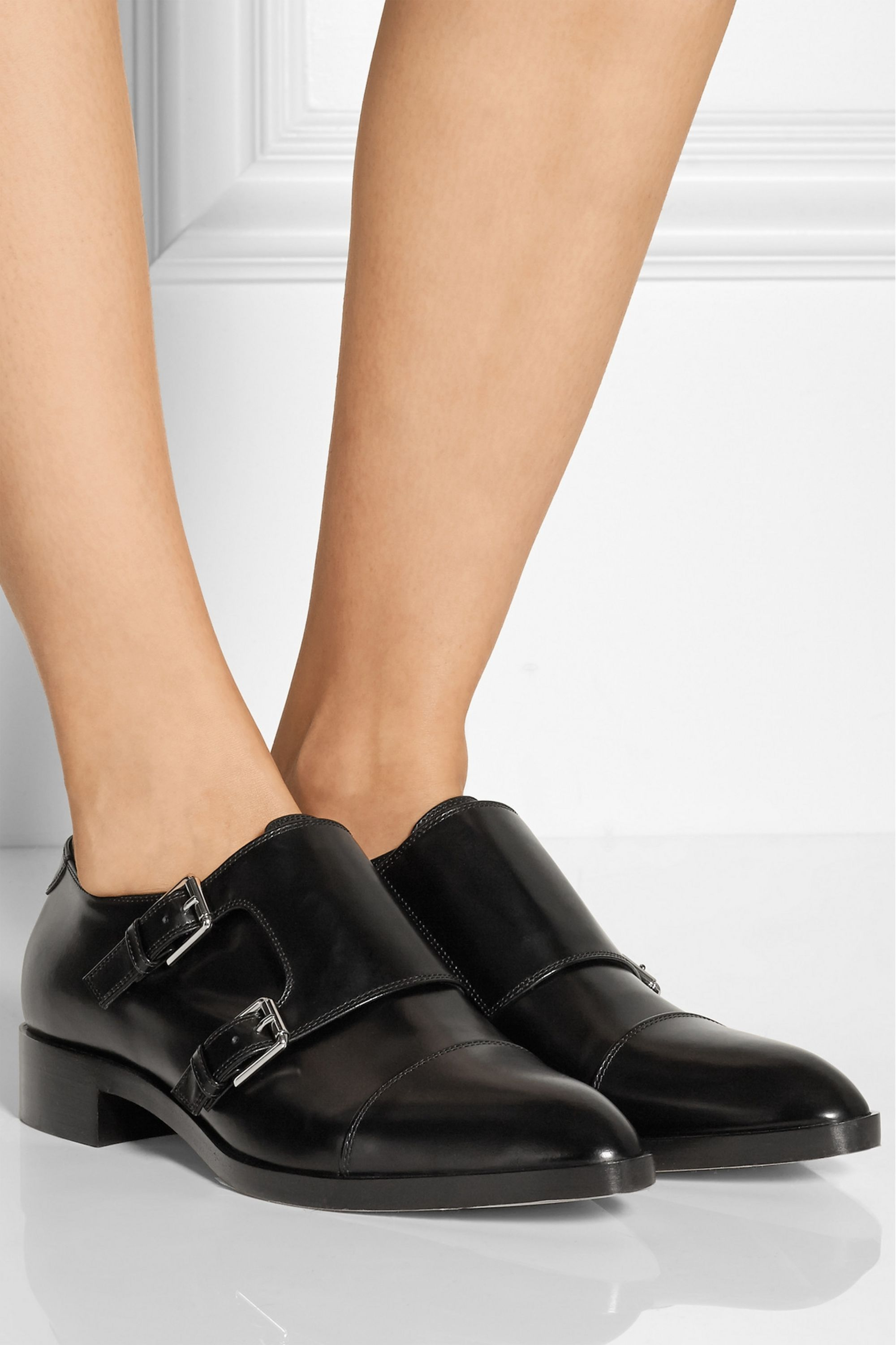 Gianvito Rossi Monk-strap leather loafers