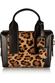 Bandit small leopard-print calf hair and leather tote