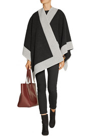 London wool and cashmere-blend poncho