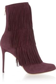 Taos fringed suede ankle boots