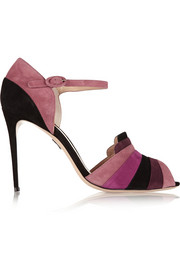 Guggenheim paneled suede sandals