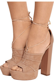 Very Eugenie suede and leather sandals