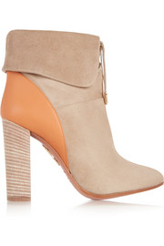 Cambridge suede and leather ankle boots