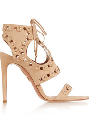 Rebel Studs cutout suede sandals