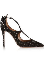 Christy studded suede pumps