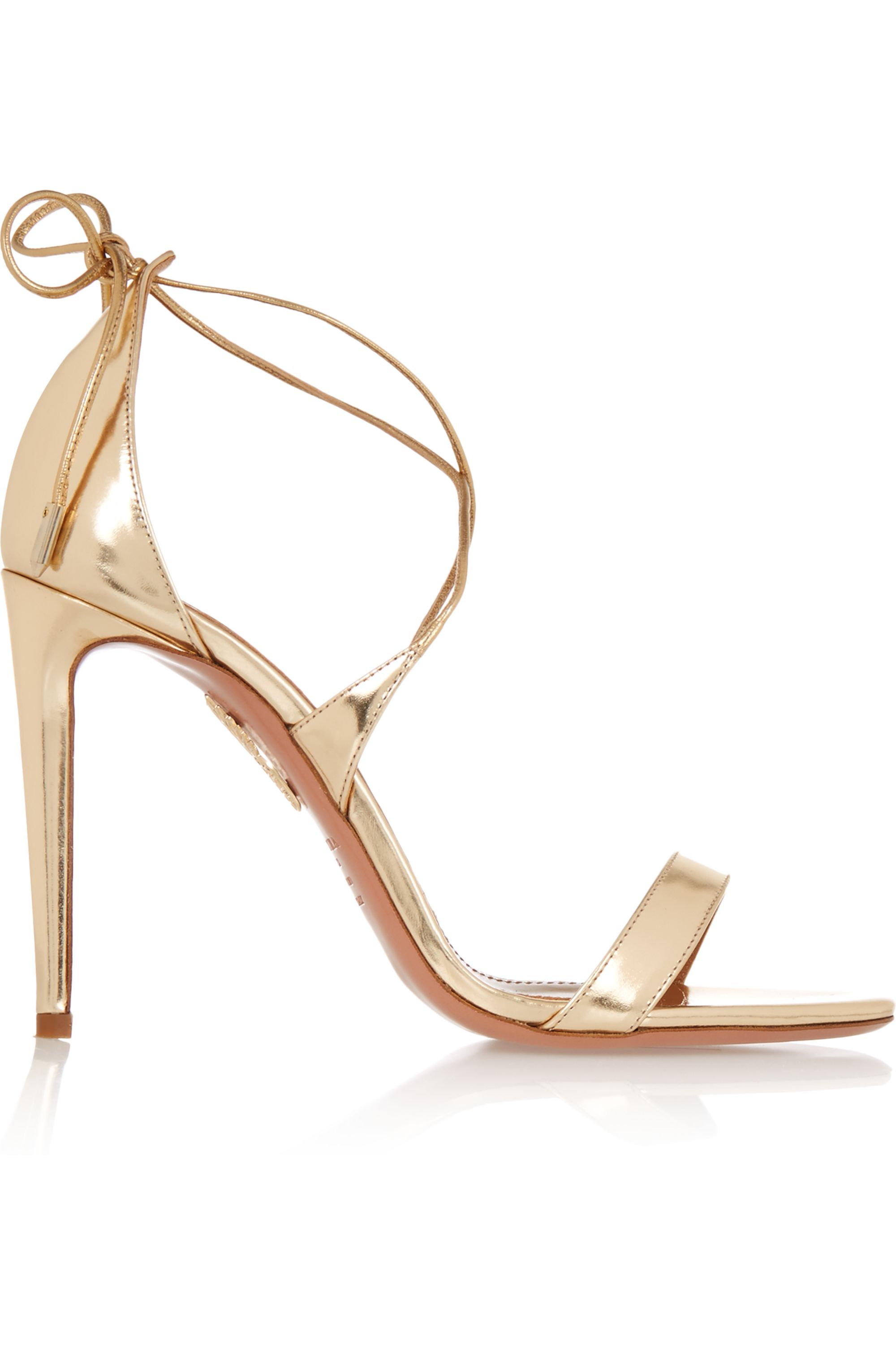 Aquazzura Linda metallic leather sandals