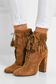 Woodstock fringed suede ankle boots