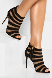 Wild Side suede and mesh sandals