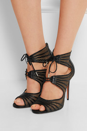 Muse leather and mesh sandals