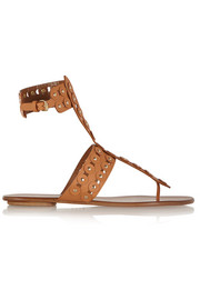 Rebel Studs cutout leather sandals