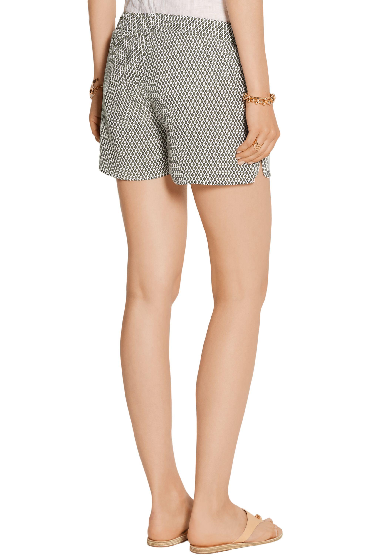 EQUIPMENT Landis printed washed-silk shorts