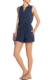 Equipment Earl washed-silk playsuit