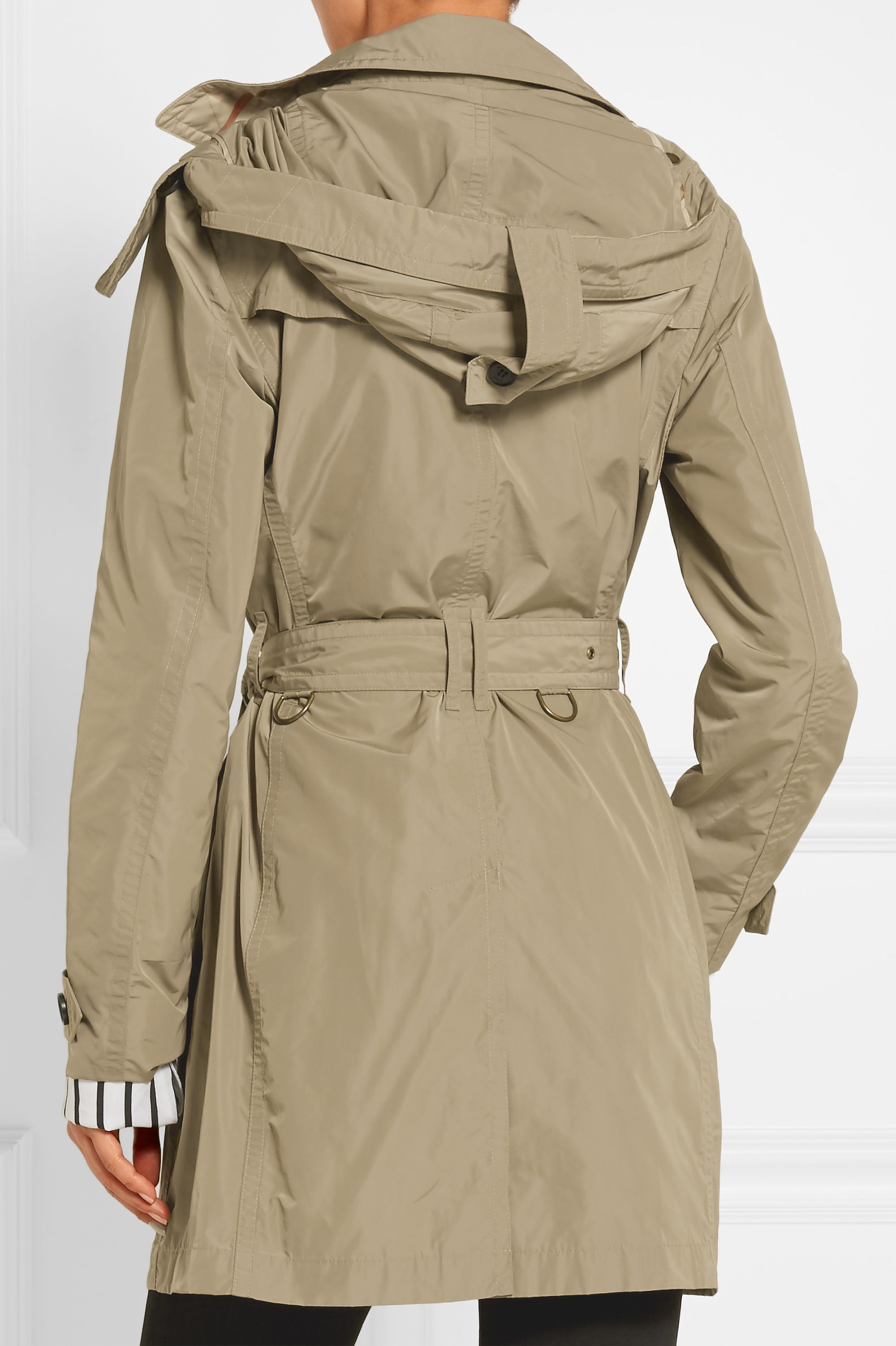 Burberry Balmoral Packaway hooded shell trench coat