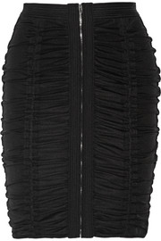 Alexander Wang Ruched stretch-tulle pencil skirt