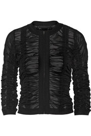Alexander Wang Ruched stretch-tulle jacket