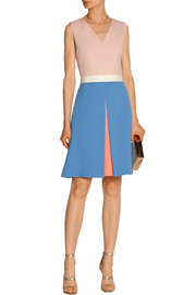 Color-block crepe dress