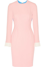 Roksanda Color-block wool-blend crepe dress