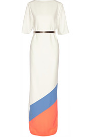 Roksanda Belted color-block crepe gown