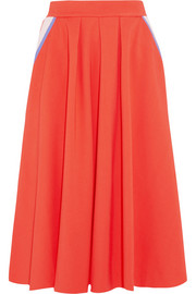 Color-block jersey skirt