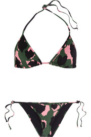 Gucci Printed triangle bikini