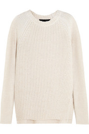 Cotton, cashmere and wool-blend sweater