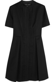 Cotton-piqué shirt dress