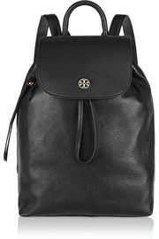 Brody textured-leather backpack