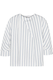 J.W.Anderson Striped cotton-piqué top
