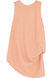 Asymmetric crepe top