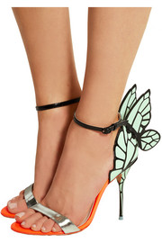 Chiara neon patent-leather sandals