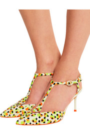 Ida printed neon leather pumps