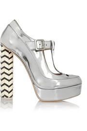 Dolly metallic leather Mary Jane platform pumps