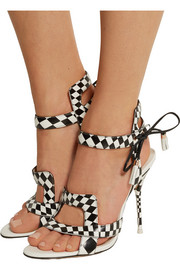 Poppy checked leather sandals