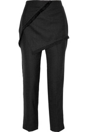 3.1 Phillip Lim Wrap-effect double-faced wool pants