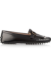 Gommino glossed-leather loafers