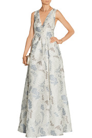 Patterned jacquard gown