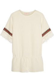 Mercerized woven cotton tunic