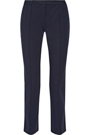 Stretch-ponte straight-leg pants