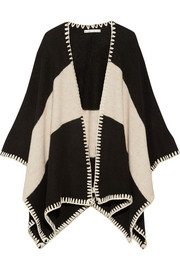 Kamala two-tone knitted cape