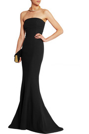 Elizabeth and James Kendra strapless stretch-crepe gown