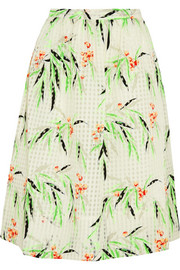 Avenue printed organza skirt