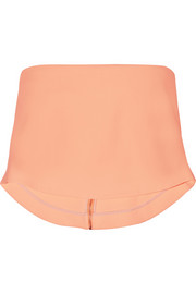 Elizabeth and James Addilyn cropped stretch-crepe top