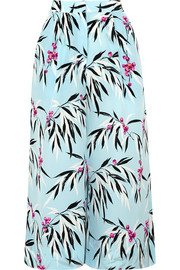 Elizabeth and James Trenton printed silk crepe de chine culottes
