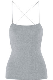 Cutout stretch-modal top