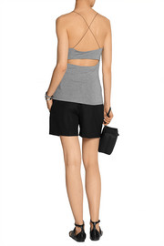 T by Alexander Wang Cutout stretch-modal top